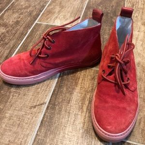 DEL TORO Suede Chukka SHOES Ombré Red 7
